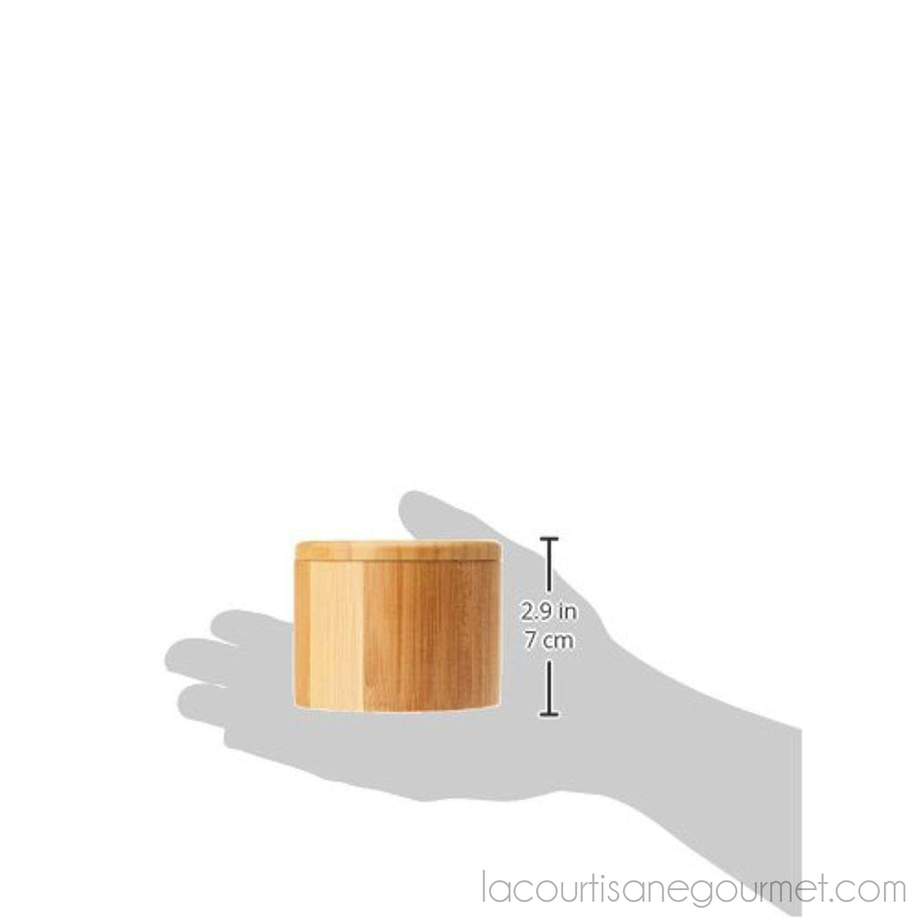 Totally Bamboo Salt Box, Bamboo Storage Box With Magnetic Swivel Lid - - La Courtisane Gourmet Food