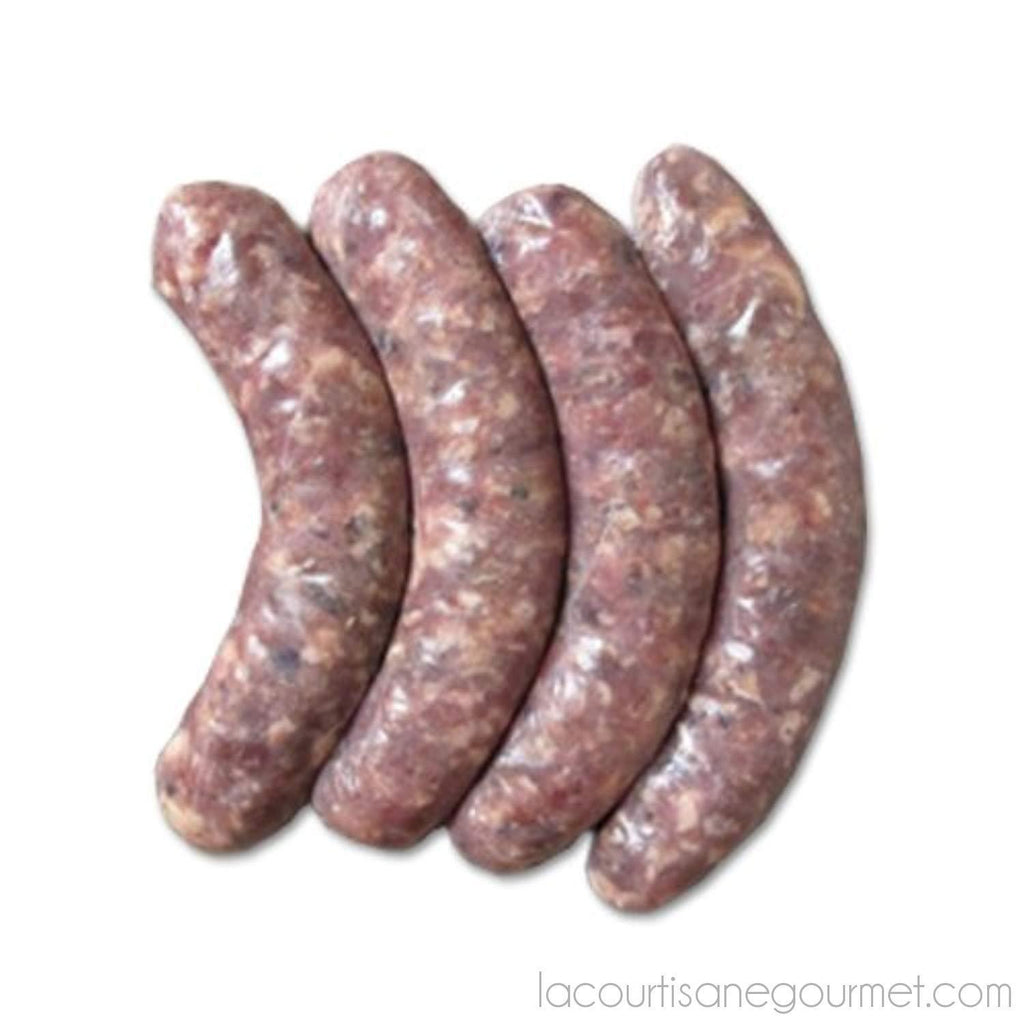 Venison Sausage With Cranberries - 1 Pack - 4 Links - 1 Lb - Sausage - La Courtisane Gourmet Food