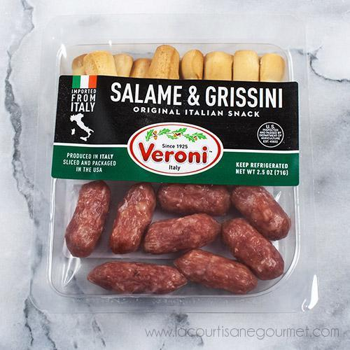 Veroni - Salame Bite And Grissini Snack Pack 3 Oz - Salami - La Courtisane Gourmet Food