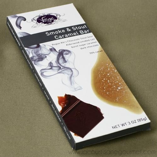 Vosges Haut-Chocolat - Smoke and Stout Caramel Exotic Candy Bar 3 oz - Chocolate Bars - La Courtisane Gourmet Food
