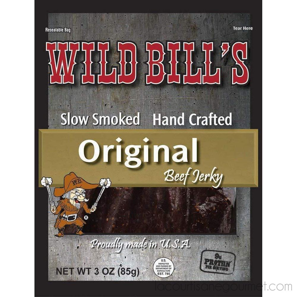 Wild Bills Hickory Smoked Beef Jerky Strips, 30-Count, 15-Ounce - Jerky - La Courtisane Gourmet Food