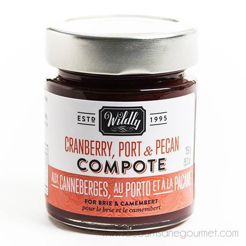 Wildly Delicious - Cranberry, Port & Pecan Compote 5.3 Oz - Sauce - La Courtisane Gourmet Food
