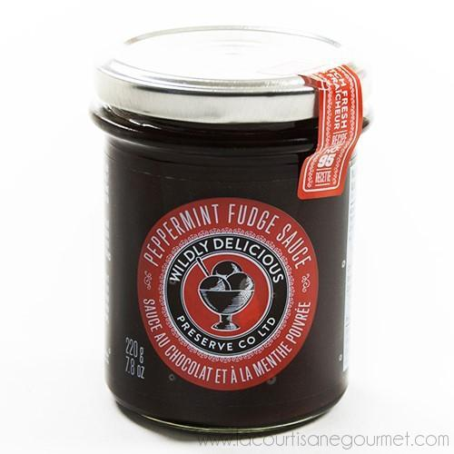 Wildly Delicious - Peppermint Fudge Sauce 9.2 oz - Topping - La Courtisane Gourmet Food