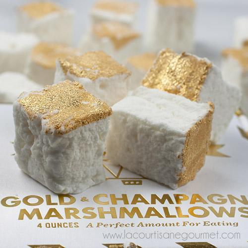 Wondermade - Gold Champagne Marshmallow Gift Box 4 oz - Candies - La Courtisane Gourmet Food