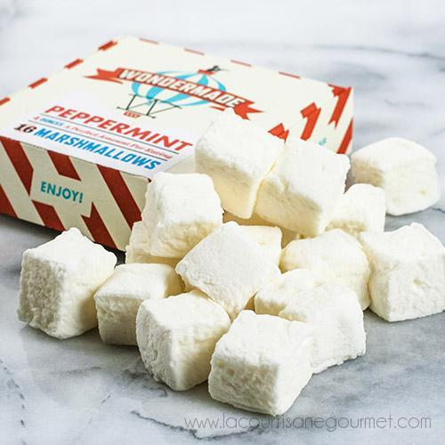 Wondermade - Peppermint Marshmallow 4 oz - Candies - La Courtisane Gourmet Food