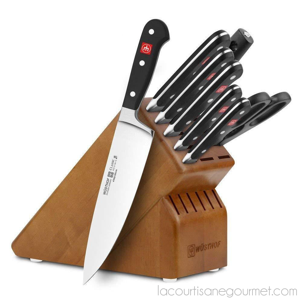 Wusthof - Classic 9-Piece Knife Block Set - Knives - La Courtisane Gourmet Food