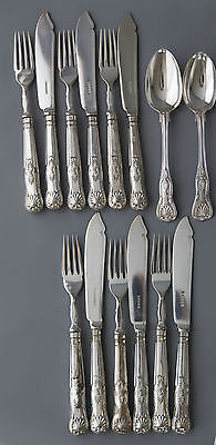 A Superb Kings Pattern Silver Table Service/Canteen for Six London 1870 G Adams