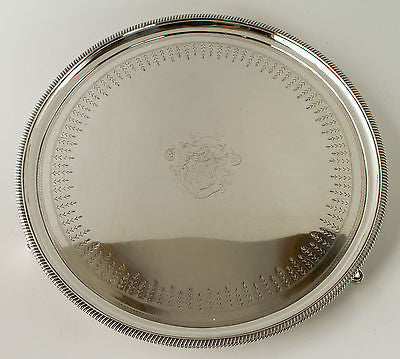 A George III Circular Silver Drinks/Tea Tray/Salver London 1806, by Peter and William Bateman