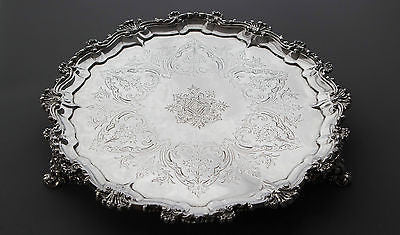A Very Good Victorian Silver Salver  London 1878, Frederick Elkington