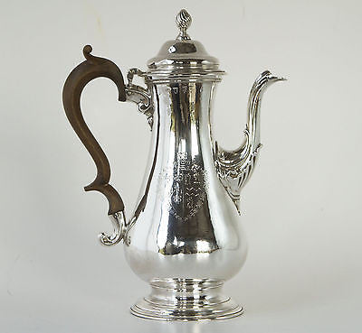 A Georgian Silver Coffee Pot London 1763, by Whipham & Wright