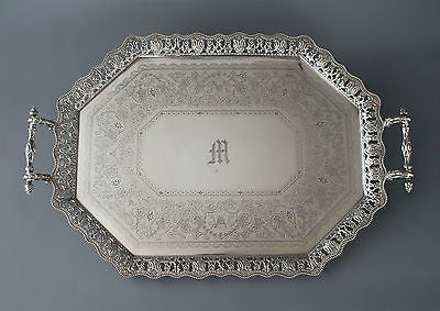 A Very Fine Late Victorian Silver Tea/Drinks Tray Sheffield 1890