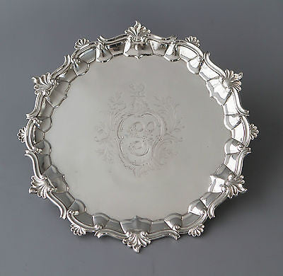 A Very Good George II Silver Salver London 1758 by Fuller White