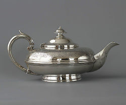 A Very Fine Victorian Silver Teapot London 1844  Charles and George Fox