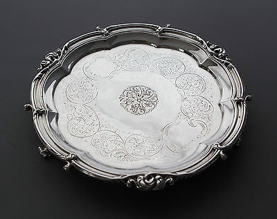 A Very Good Georgian Silver Waiter/Salver London 1825 by Benjamin Smith
