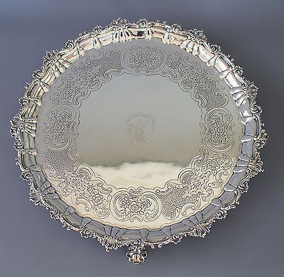 A  Magnificent Georgian  Irish Silver Salver/Tray James Le Bas Dublin 1816