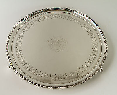A Very Fine Large George III Circular Silver Drinks/Tea Tray/Salver London 1806.