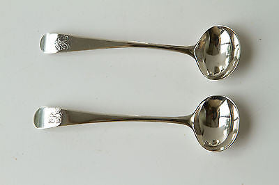 A Pair of Georgian Silver Salts and Spoons Batemans London 1805