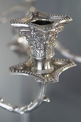 A Very Imposing Pair of Victorian Silver Candelabra London 1874