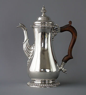 A Very Fine George II Silver Coffee Pot London 1758