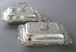 A Very Fine Pair of Silver Victorian Entree Dishes London 1841
