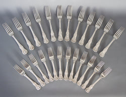 A Very Good Set of Twelve Silver King's Pattern Table & Dessert Forks London 1825/39