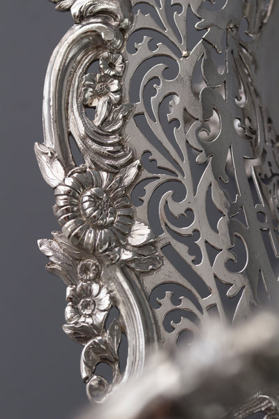 A Beautiful George II Silver Basket London 1747, by Edward Aldridge