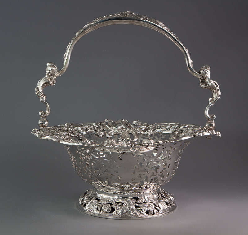 Royal Interest - A George II Silver Harvest Basket London 1759, by William Tuite