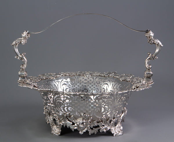 A George II Silver Basket London 1739 by Robert Brown