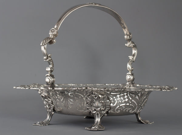 An Exhibition or Museum Quality George II Silver Basket London 1745 by Edward Aldridge