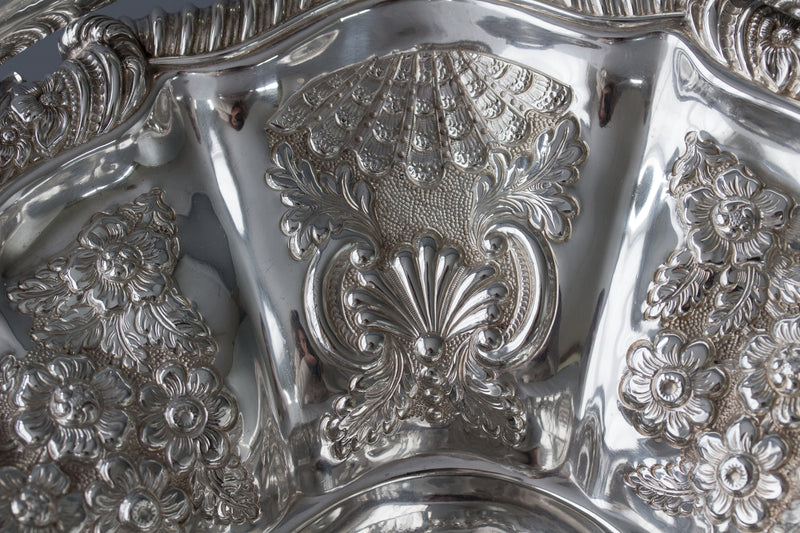 A Fine George IV Silver Fruit Basket Sheffield 1820