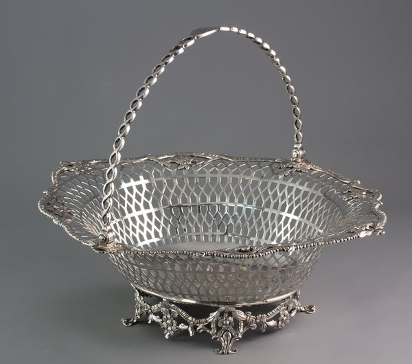 A Superb Georgian Irish Silver Basket Dublin 1760