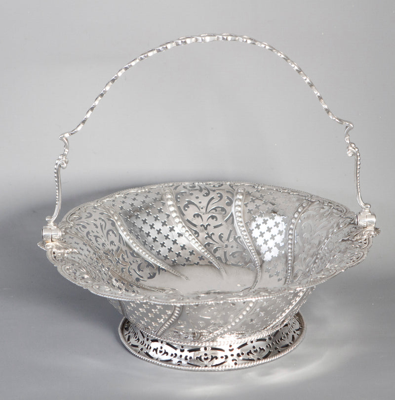 A Very Fine George III Silver Basket by William Plummer, London 1761