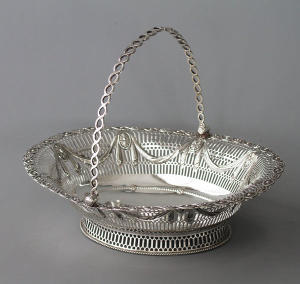 A Superb George III Silver Fruit or Bread Basket by Aldridge & Green, London 1774