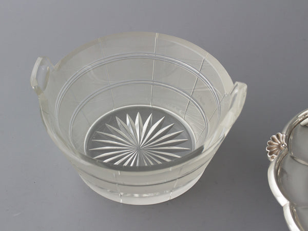 A very good Barnard William IV Silver and Cut Glass Butter Dish, London 1834