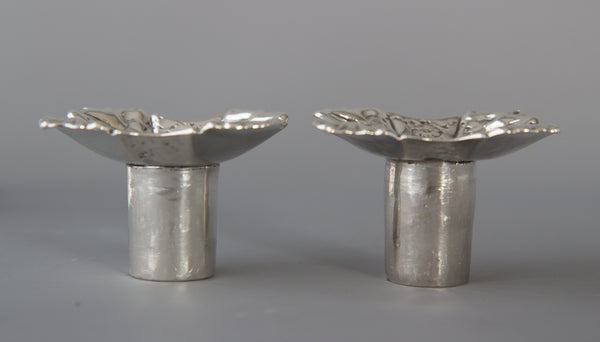 A superb pair of Cast George II Silver Candlesticks by John Cafe 1749