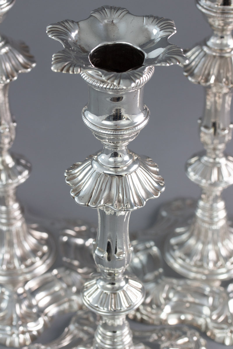 A Very Fine Set of Four Georgian Silver Table Candlesticks London 1753 by William Grundy