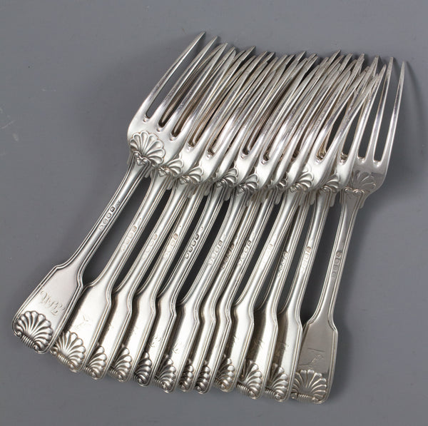 A Very Fine George III 12 Place Silver Canteen by Paul Storr