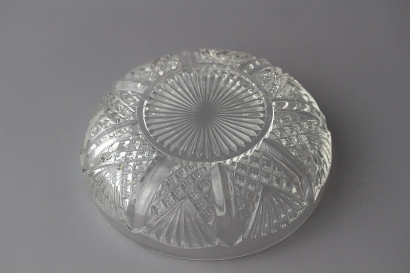 An Early Victorian Silver and Glass Table Centrepiece or Comport Birmingham 1874 by Horace Woodward