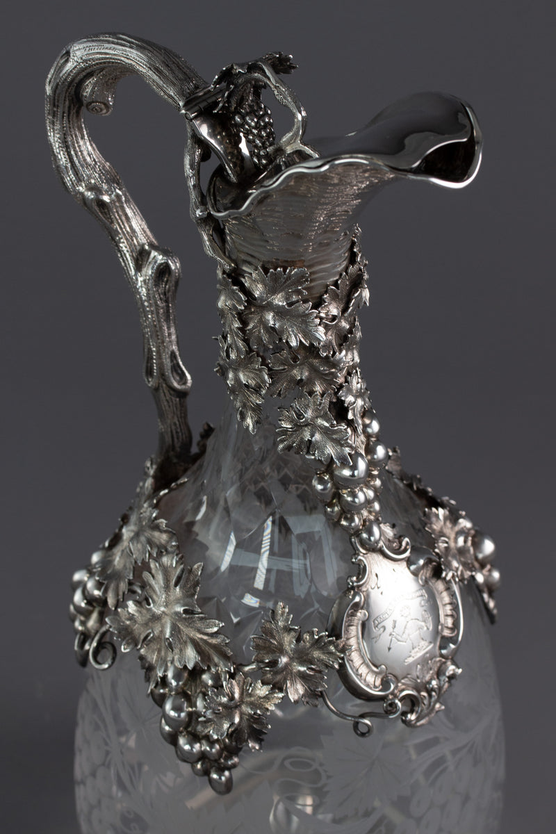 A Spectacular Victorian Claret Jug London 1860 by George Emmerton