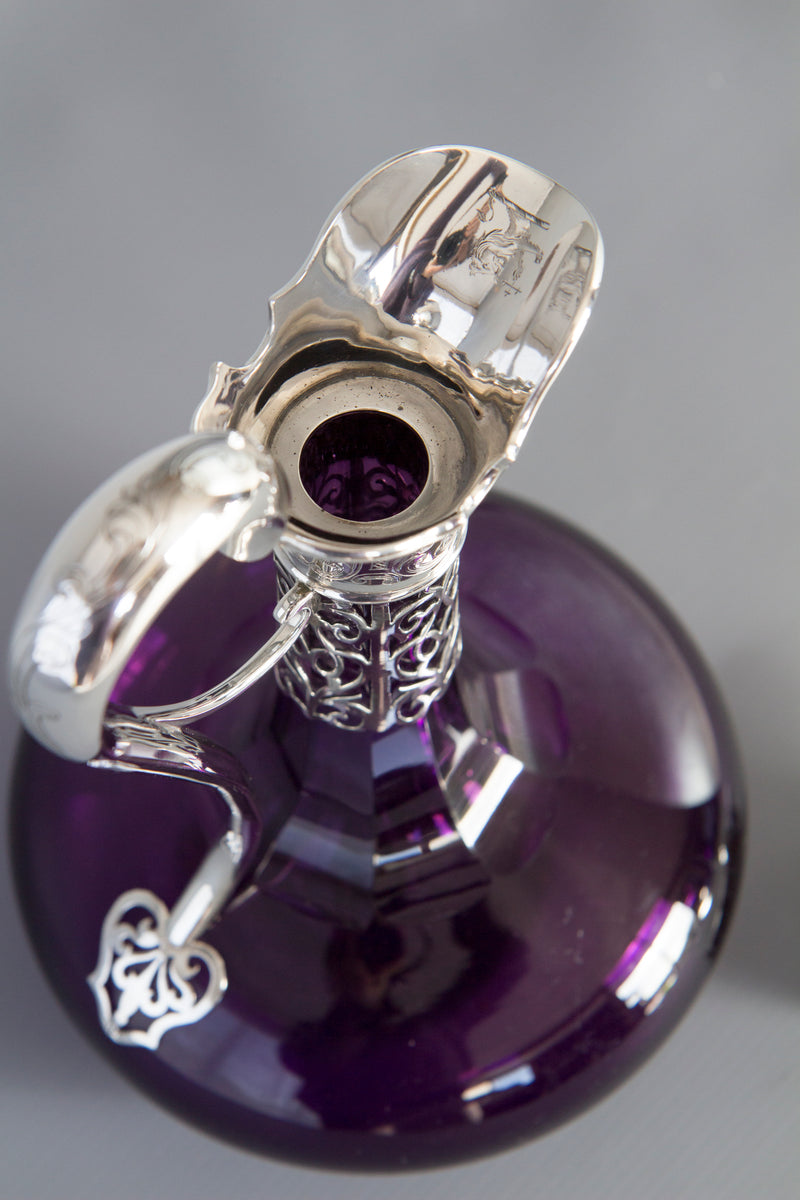 A Victorian Silver Claret Jug / Wine Decanter, London 1839 by Charles Reily and George Storer