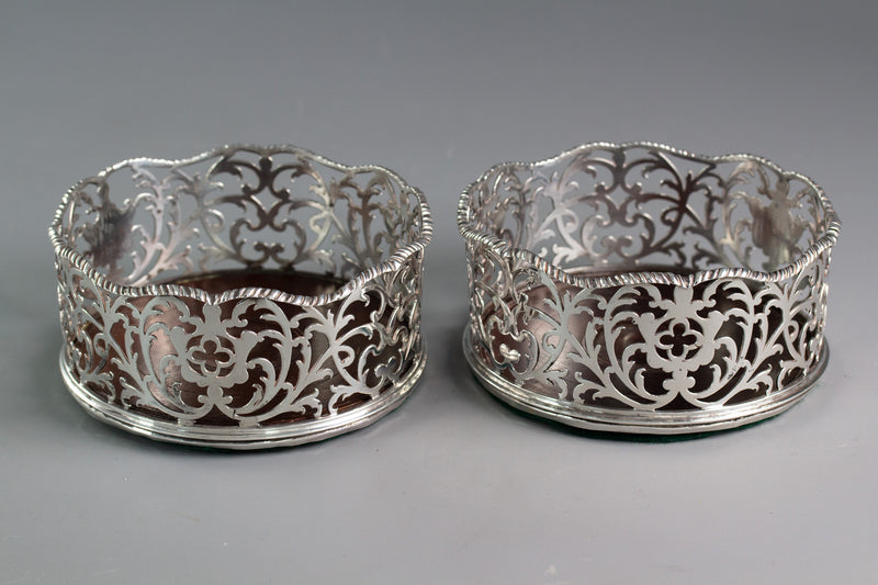 A Pair of Georgian Silver Wine/Bottle Coasters London 1768