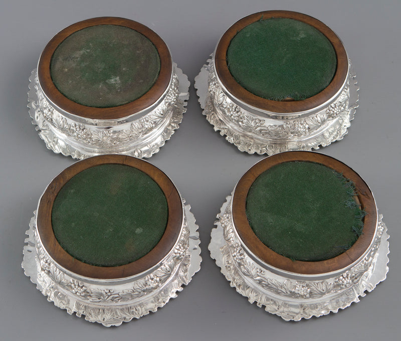 A Very Good set of Four George IV Silver Wine Coasters Sheffield 1828