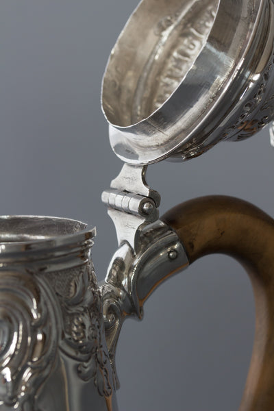 An Exceptional George II Silver Coffee Pot by Samuel Courtauld, London 1752