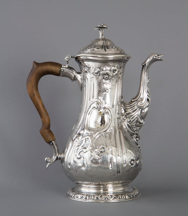 A Georgian Silver Coffee Pot London 1760