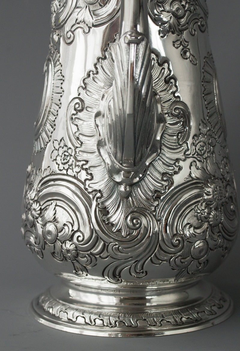 A George II Silver Coffee Pot, London 1751, W Shaw & W Priest