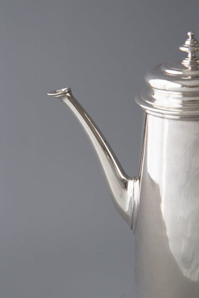A Superb George II Silver Coffee Pot, George Hindmarsh London 1734