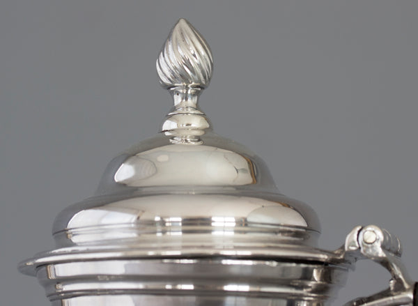 A George III Silver Coffee Pot London 1763 by William Grundy