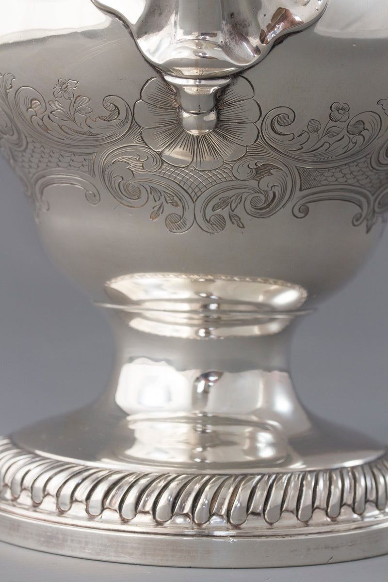 A Georgian Silver Coffee Pot London 1768