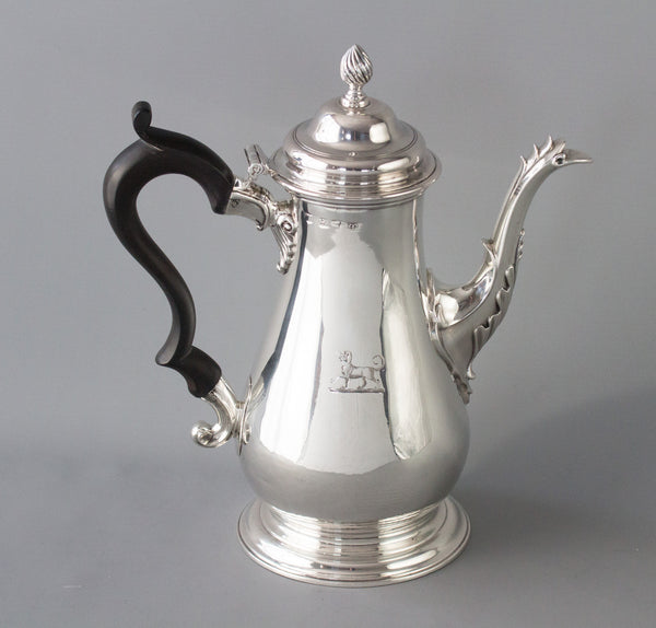 A Very Good George III Silver Coffee Pot London 1767 by William Gundry