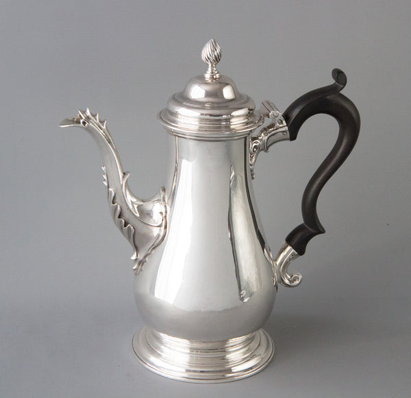 A George III Silver Coffee Pot London 1767 by William Grundy